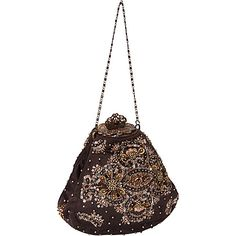 Moyna Handbags Antique Purse Brown - Moyna Handbags Evening Bags