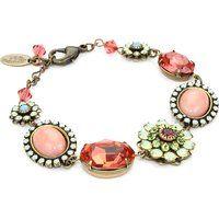 Liz Palacios Crystales Opalos Multi-Flower Brass Bracelet$130More details