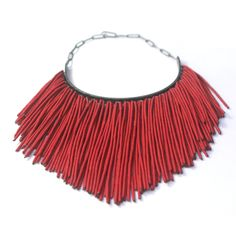 """beaded coral necklace - sterling silver by HITOMI JACOBS-JP  """"Hitomi Jacobs is a Japanese born jewelry maker. She uses silver, turquoise, coral, and pearls to create beautifully crafted pieces of work."""""""