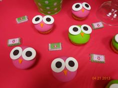 Pink Green Owl Birthday Party Ideas | Photo 18 of 44 | Catch My Party