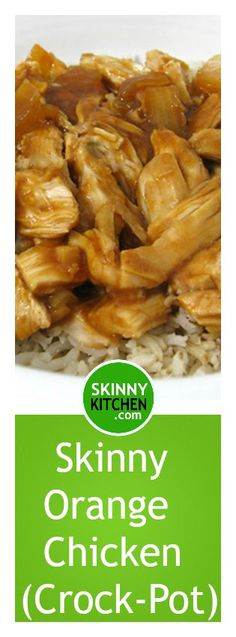 Skinny Orange Shredded Chicken, Crock-Pot or Baked. It's simple and delicious! Each serving, 294 calories, fat & 7 Weight Watchers POINTS PLUS. Low Calorie Recipes Crockpot, Slow Cooker Recipes, Cooking Recipes, Healthy Recipes, Healthy Shredded Chicken Recipes, Cleaning Recipes, Simple Recipes, Crockpot Meals, Kitchen Recipes