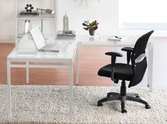 Dania - Create a clean, contemporary look at home or in the office with our Nova collection. Crafted with a sturdy metal frame with a snow-white finish and smooth frosted glass tops.  The Nova 60