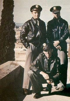 Captain James Stewart with pilots of his squadron in Marrakesh on the way to England. November 1943.