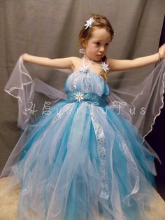 "Made to Order Queen Elsa ""Frozen"" Inspired Tutu Dress Product (As pictured)…"