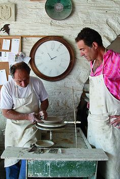 My brother working in Paros island with my good friend Stelios at STUDIO Yria