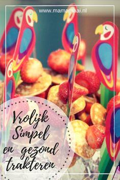 simpele traktatie, trakteren kleuters, gezond, poffertjes met aardbeien Birthday Treats, Kids And Parenting, Oreo, Healthy Snacks, Lunch Box, Sweets, Invitations, Poffertjes, Breakfast