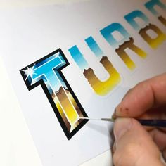 If you like typography than make sure to check out for awesome typography inspiration. It's my go to account for all things type. Graffiti Lettering, Typography Letters, Typography Logo, Painted Letters, Hand Painted Signs, Lettering Styles, Lettering Design, Signwriting, Typography Inspiration