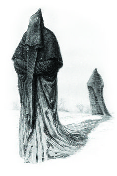 The Original Harry Potter Creature Concept Art for Dementors  Forget the Movie Version, if I would meet THIS in a Dark Forest, I would end my life, before they could take it.