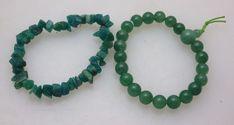 Two Polished Green Semi Precious Stone Bracelets | eBay