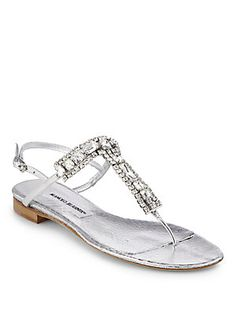 Love these sandals but why do they have to be so expensive Ankle Wrap Sandals, Ankle Strap Flats, T Strap Sandals, Leather Sandals, Shoes Sandals, Manolo Blahnik Heels, Jeweled Sandals, Metallic Sandals, Metallic Leather