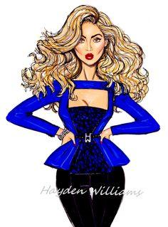 #Hayden Williams Fashion Illustrations: #'Baddie Bey' by Hayden Williams