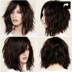 Image result for wavy curly fringe hair cuts back