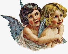 Utskrivbara vintage ängel bilder