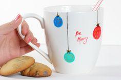 Christmas Xmas Mug Be Merry Joy  to the by MountainsandWillows, $13.00