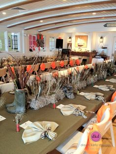 More details from our Nantucket Yacht Club Duck Hunting party! All about moss, boots, decoys and camo! www.dawnkellydesigns.com