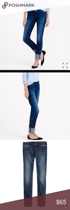J Crew Reid Japanese Selvedge Edge Jean Emerson 28 Shorter days call for longer lengths. We added extra inches to our Reid crop, so now there's a full-length version of our favorite slim, straight fit—it's what to wear when you want a break from your skinnies. Denim snobs (you know who you are), we're looking at you: This pair is made with Japanese cotton prized for its wear-it-for-years durability and a rich character that just gets better with time.  Cotton with a hint of stretch.  Worn…
