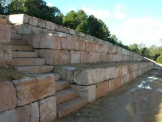 B GRADE PREMIUM Sandstone Retaining Wall. Retaining wall Brisbane area. img1