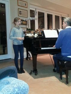 Jackie Evancho after dinner song with David Foster
