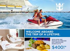 Royal Caribbean WAVE Sale   Get Up To $400 In Onboard Credit. Book By Feb. Gift  CertificatesRoyal ...