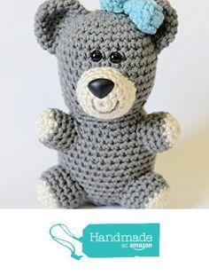 Teddy Bear Stuffed Animal - Crochet Plush Toy from Simply Hooked https://www.amazon.com/dp/B01J1WDKS6/ref=hnd_sw_r_pi_dp_okgsybKP50BZH #handmadeatamazon