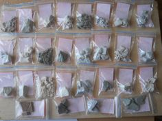 Edible clay, natural clay, medical clay, set of 25 kinds of clay samples. by ShopMumio on Etsy