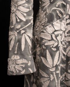 Dyed coat with contrasting applique; sewing ideas; fabric manipulation; fashion detail // Alabama Chanin #textiles
