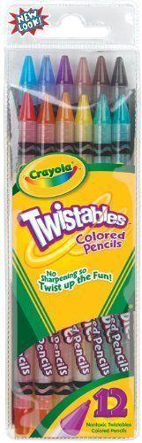 Crayola Twistable Colored Pencils 12 count (68-7408) Kids Color Fun Creativity #Crayola