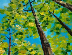Fresh Forest - try with fingerprint painting, perspective   # Pin++ for Pinterest #