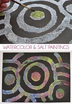 Con esta técnica para dibujar con sal y pinturas conseguirás que tus dibujos adquieran relieve y se vean súper originales. Son perfectos para colorear al estilo arco iris, con variaciones de color y quedan muy chulos para regalar, para colgar en la habitación y sobretodo para pasarlo genial haciéndolos.