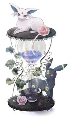 Espeaon and umbreon