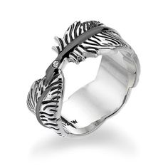 Hot Diamonds Ring DR129 Feather - £69.95 - Hot Diamonds Ring Dr129 Feather