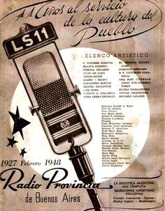 Publicidad de RADIO PROVINCIA, Buenos Aires, 1948.