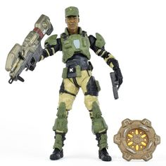 Halo 3 Series 5 SGT. AVERY JOHNSON w/ LASER GUN Action Figure McFarlane 2009 #McFarlaneToys