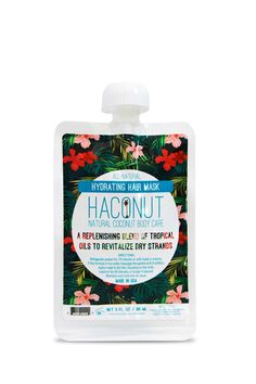 This rinse-off hair mask by Haconut™ features a replenishing all-natural blend of tropical oils to revitalize dry hair, add moisture and shine, and maintain heathy looking hair.