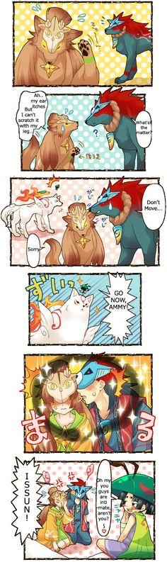 oki and kai comic by Amu-Meida