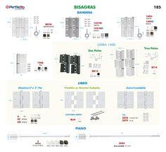 Bisagras Perfiletto ®| Catálogo Virtual Perfiletto
