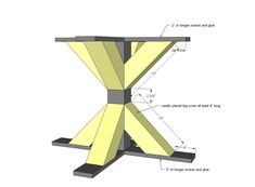 Ana White | Build a Square X Base Pedestal Dining Table | Free and Easy DIY Project and Furniture Plans #pedestals