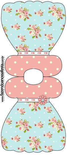 (Large Party Printables Set) http://fazendoanossafesta.com.br/2013/12/floral-vintage-rosa-e-azul-kit-completo-com-molduras-para-convites-rotulos-para-guloseimas-lembrancinhas-e-imagens.html