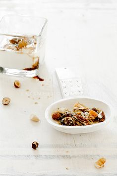granola with dried fruit and nuts
