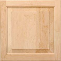 American Woodmark 14-9/16x14-1/2 in. Cabinet Door Sample in Charlottesville Maple Natural