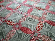 This spiral quilting is beautiful