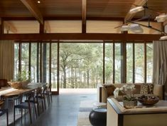 GRADE brought nature's elements indoors, establishing a foundation of earthy textures including natural mahogany wood and a curved zinc rooftop...