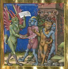 Jacobi de Ancharano (alias de Teramo) Litigatio Christi cum Belial, verdeutscht - BSB Cgm 48 ([S.l.] 1461)