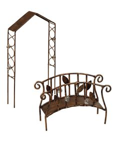 This Miniature Trellis & Bridge Decor Set by Grasslands Road is perfect! #zulilyfinds
