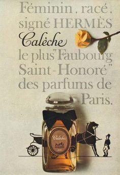 Feminine & Sophisticated - Calèche by Hermes Hermes Parfum, Perfume Adverts, Parfum Paris, Old Perfume Bottles, Perfume Collection, Vintage Perfume, Smell Good, Previous Life, Fragrance