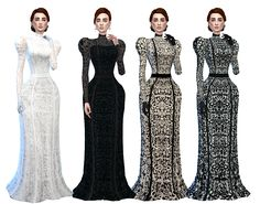 Sims 4 The Victorian Lace Collection You will need a few meshes but if you are…