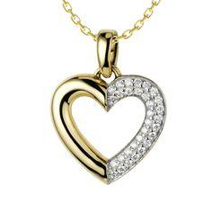 Tegan Diamond Necklace: Rs.29,161    #Diamond #Necklace #Gold #Yellow #Heart #love