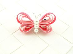 Hey, I found this really awesome Etsy listing at https://www.etsy.com/listing/179765153/pink-butterfly-hair-clip-ribbon