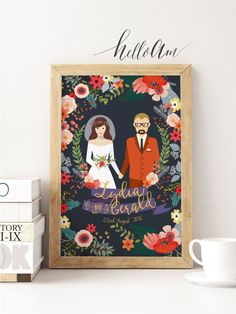 Excited to share the latest addition to my #etsy shop: newlywed gift - newlyweds gift - newlywed - bridal shower gift - gift for couples - wedding gift - wedding gifts - couple portrait - wedding http://etsy.me/2CmCoxq #weddings #newlywedgift #newlywedsgift #newlywed #