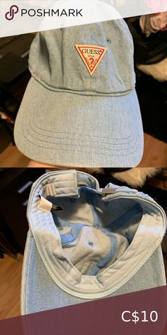 Guess Denim Cap Excellent used condition. No flaws and has been washed. Guess Accessories Hats White Blazer Women, Denim Cap, Steve Madden Heels, Dad Caps, Wide-brim Hat, Vintage Coach, Knit Beanie, Boss Lady, Women Accessories